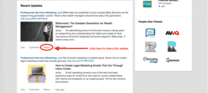 how to share an update on linkedin