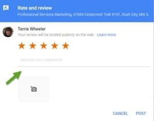 Google Review 5 Stars from Terrie Wheeler