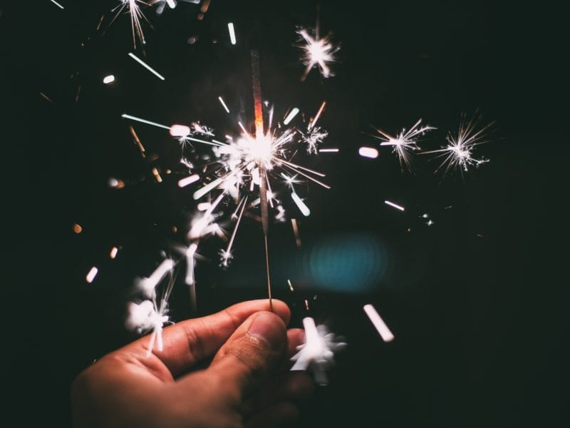 new years sparkler