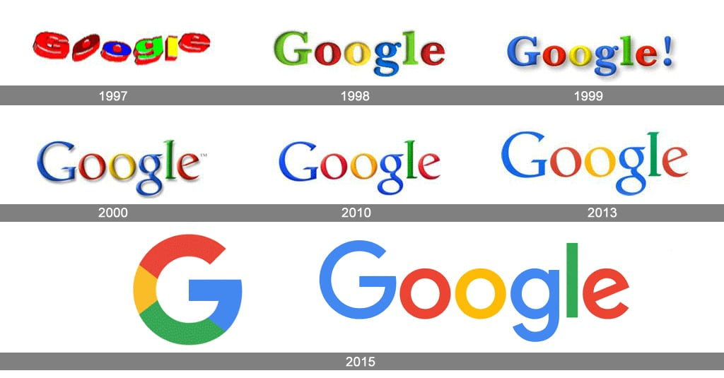 Google Branding Evolution | PSM Marketing Branding Services